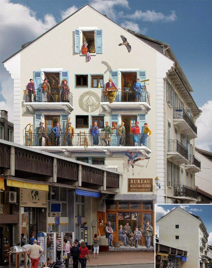 Fake Facades: Smart Street Art by Patrick Commecy