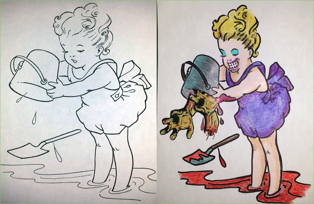 28 Awful Corruptions In Coloring Books That Will Give Your Kids