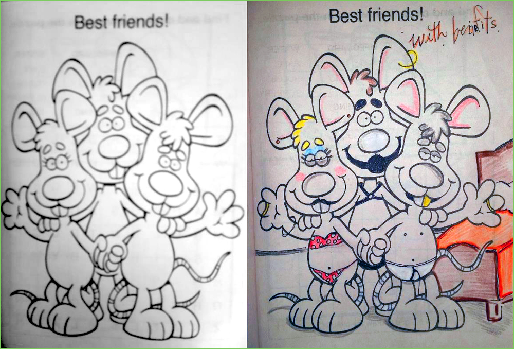 You Cant Get Much Closer Than These Friends Here Are 28 Very Best Coloring Books