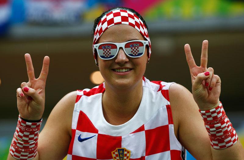 Croatian Women Soccer Fan