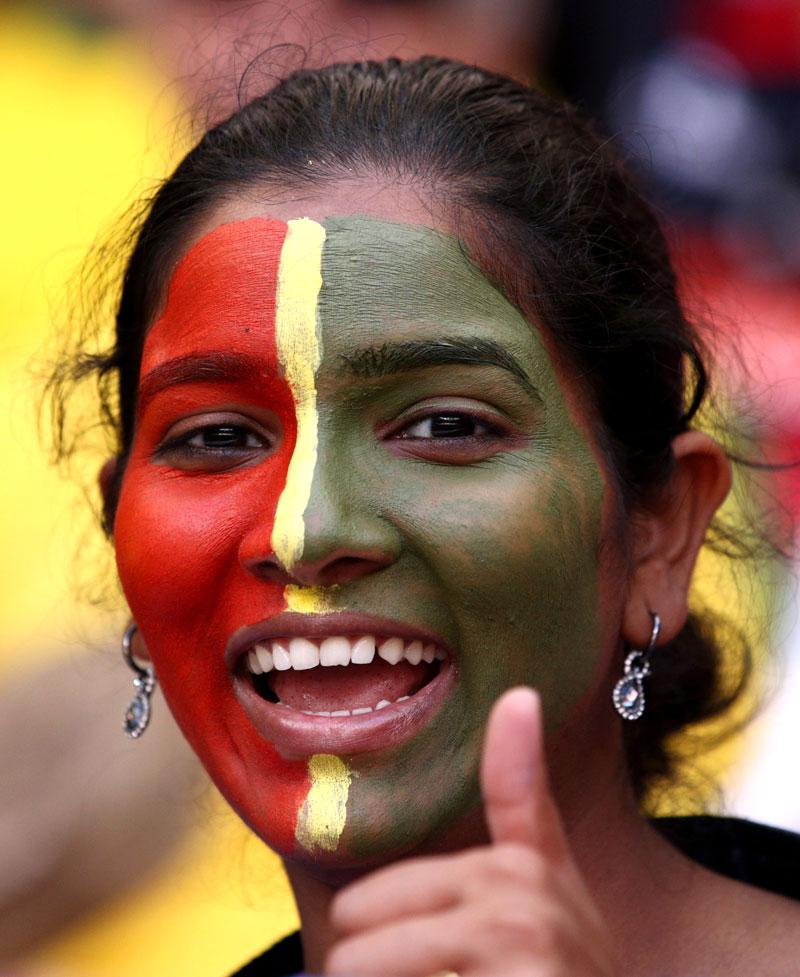 Excited Female Soccer Fan From Ghana