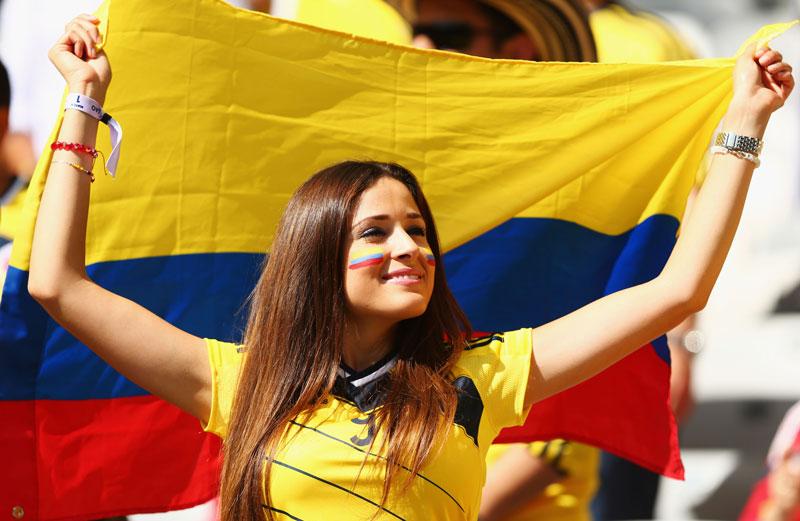 Sexy Colombian Soccer Fan
