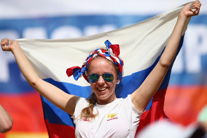 Sexy Russian Female Soccer Fan