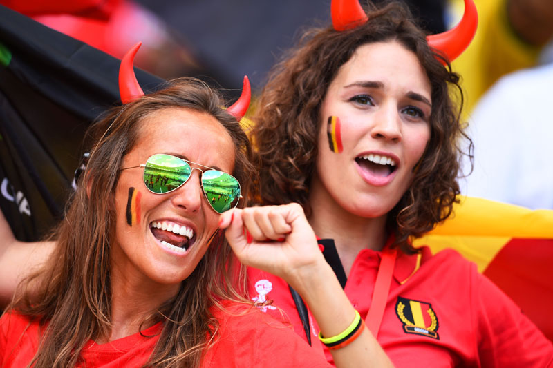 Sexy Soccer Fans From Belgium