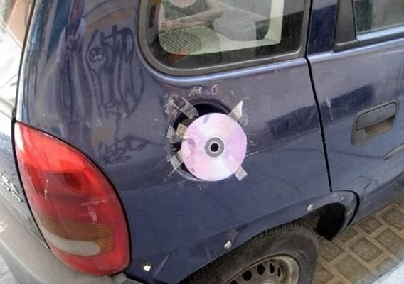 The guy who found a use for his old CDs