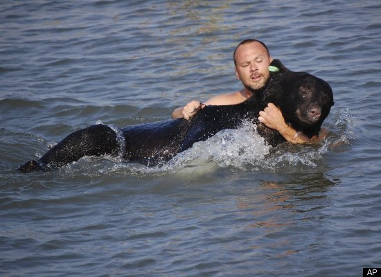 This Wildlife Officer Who Saved A Drowing Bear