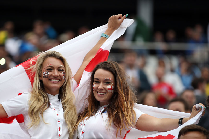Two Sexy Soccer Fans From England
