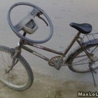 .because steering wheels are better used on bikes anyway
