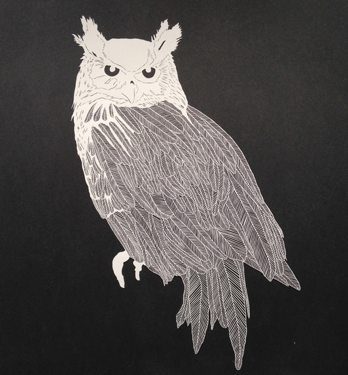 Large Papercut Owl
