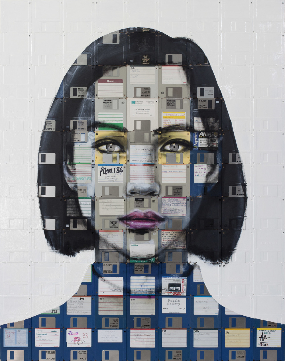 Nick Gentry Creates Incredible Portraits Using Floppy ...