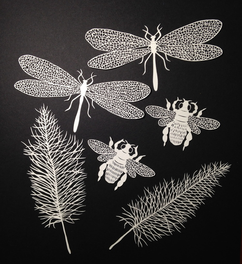 Tiny Insect Papercuts