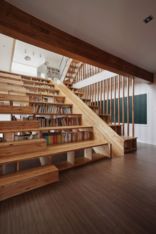 A Library Staircase Slide
