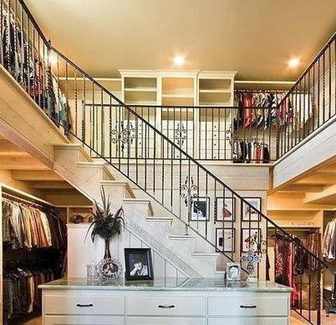 A Two-Story Closet