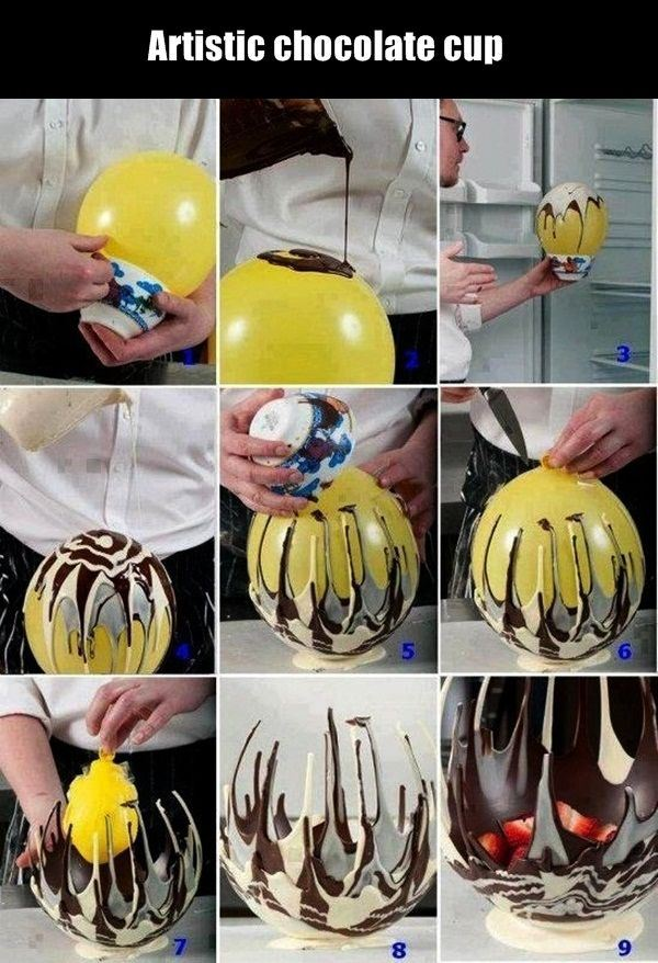 Artistic chocolate cup