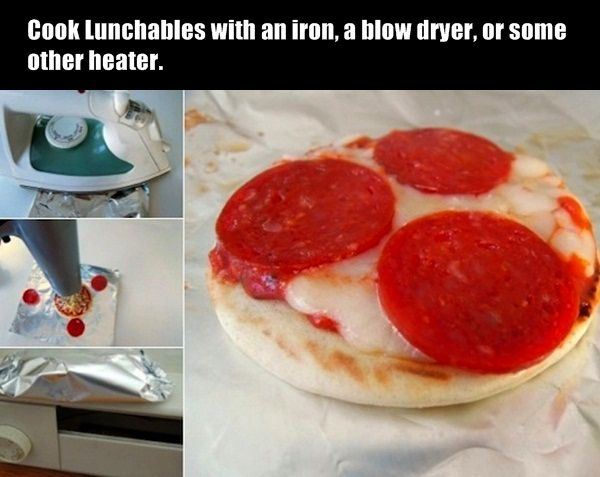 Cook lunchables with....