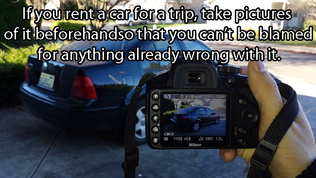 If You Rent A Car, Take Pictures Of It