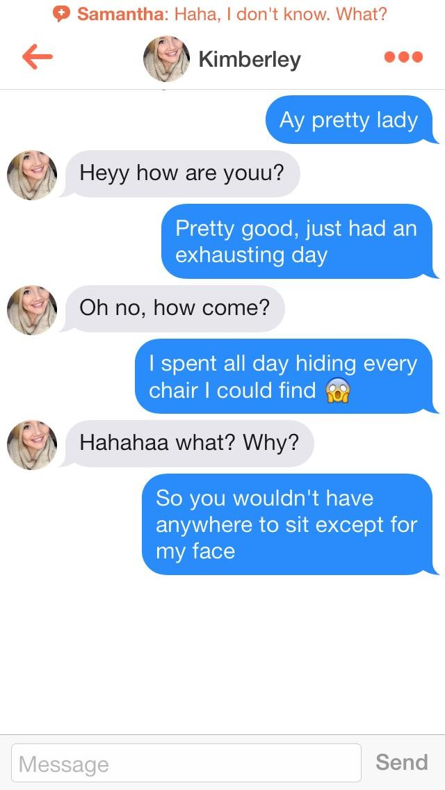 Good chat up lines for tinder