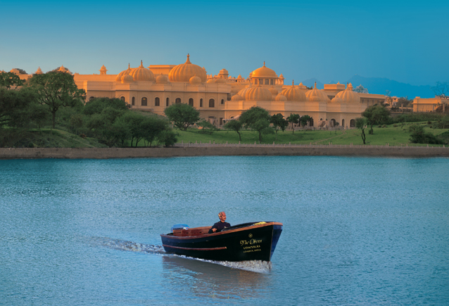 The Oberoi Udaivilas on the bank of lake Pichola