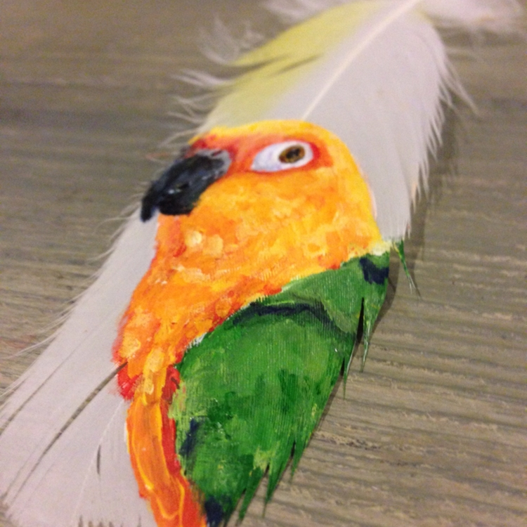 Artist Jamie Homeister Uses Delicate Feathers As Her