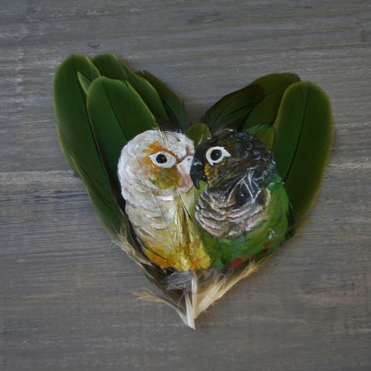 pineapple and green cheek conure
