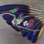 Artist Jamie Homeister Uses Delicate Feathers As Her Canvas For Intricate Paintings Of Animals