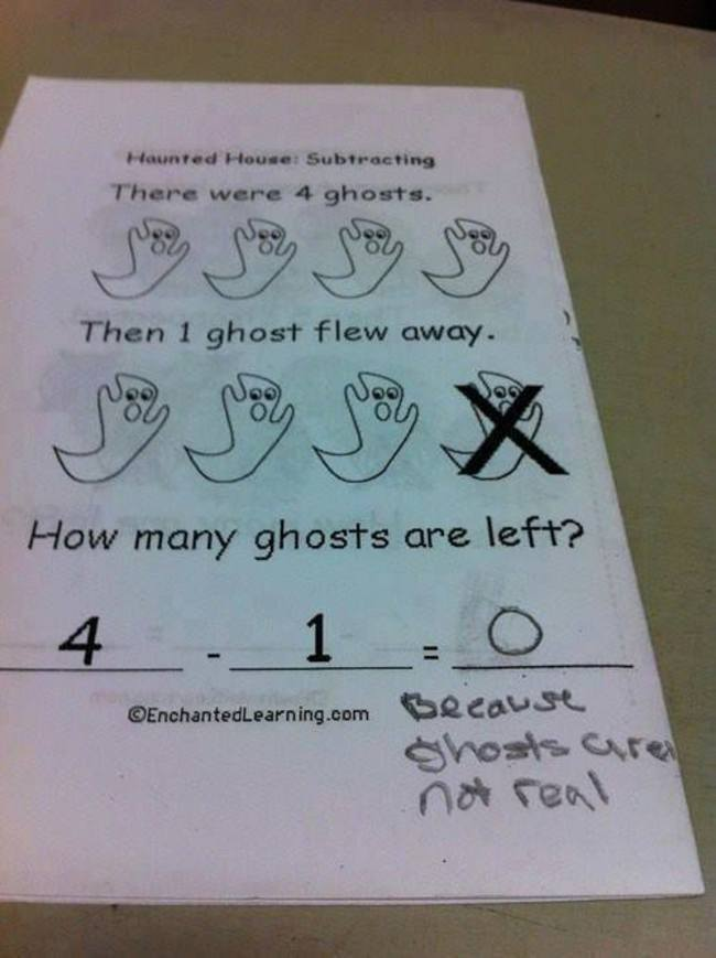 Because Ghosts Are Not Real