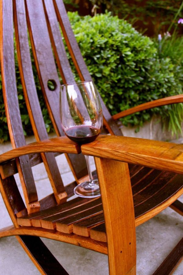Cut a notch in your dad'd favorite chair to create a wine glass holder.