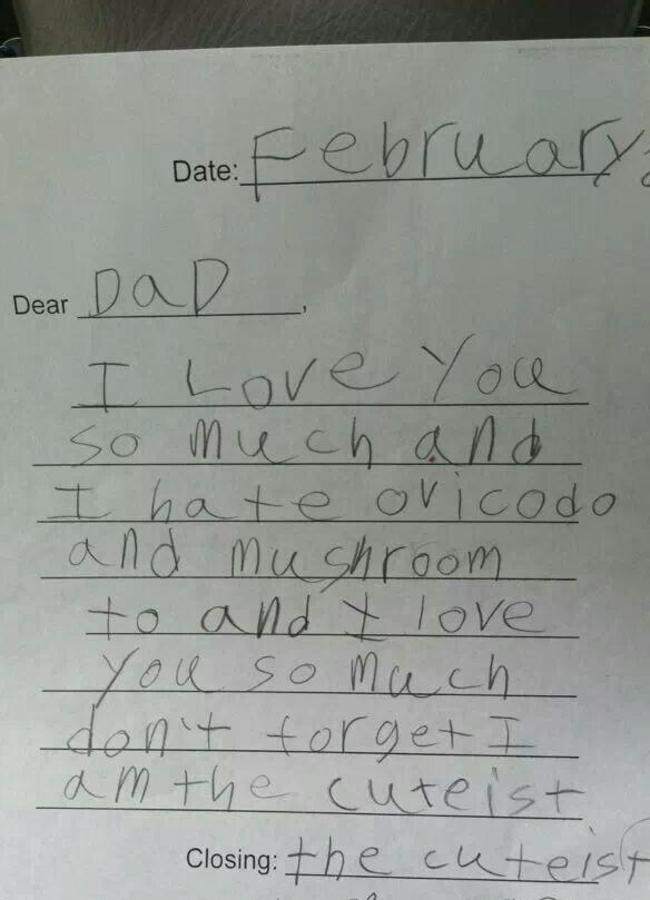 Dad I Love You Because...