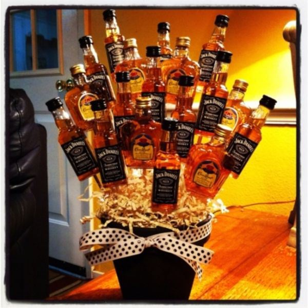Did you blackout and sleep with your room mates ex girlfriend Apologize with a DIY bouquet of whiskey