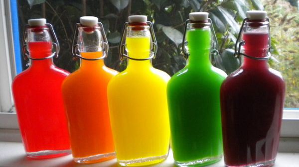 Dump skittles into bottles of vodka overnight and taste the rainbow.