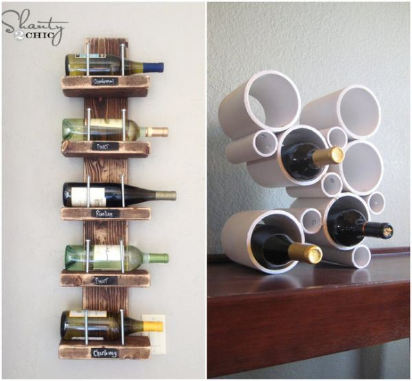 Homemade wine racks