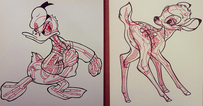 Skeletons In Coloring Book Pages-01