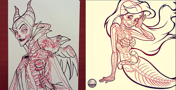 Skeletons In Coloring Book Pages-03