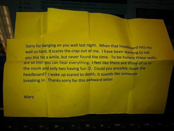 Sorry for this awkward letter
