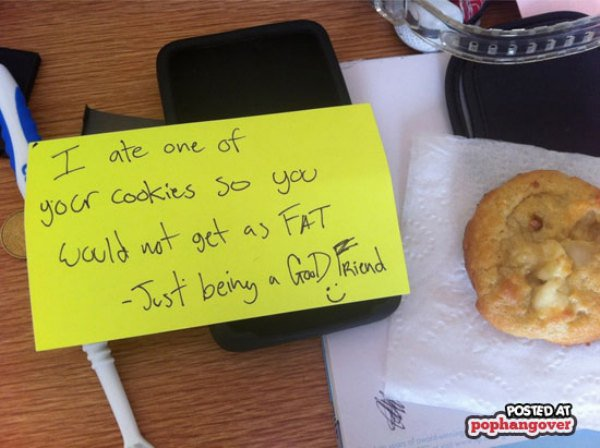 The reason why I ate your cookie