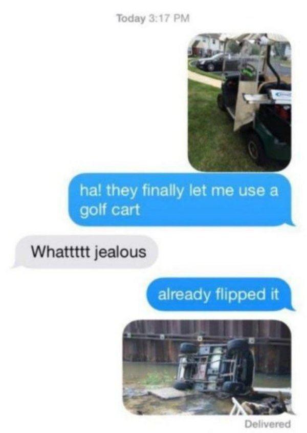 This golf cart driver