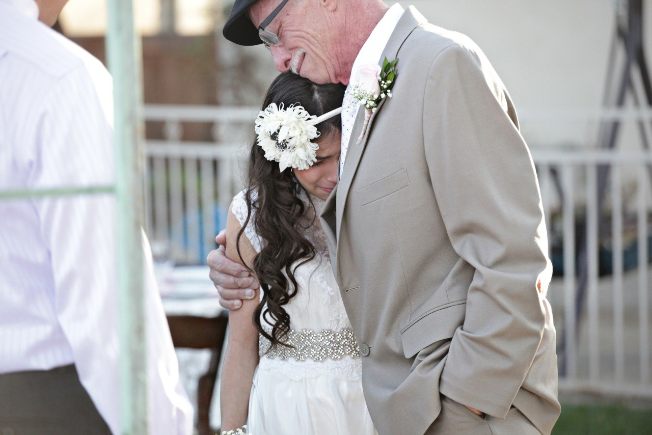 Cancer-Stricken Dad walks 11 year old down the 'Aisle' because he won't be ther for the real thing.