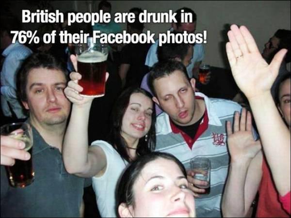 Fact about British facebook photos