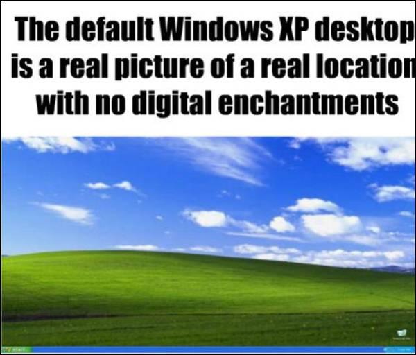 Fact about Windows XP desktop