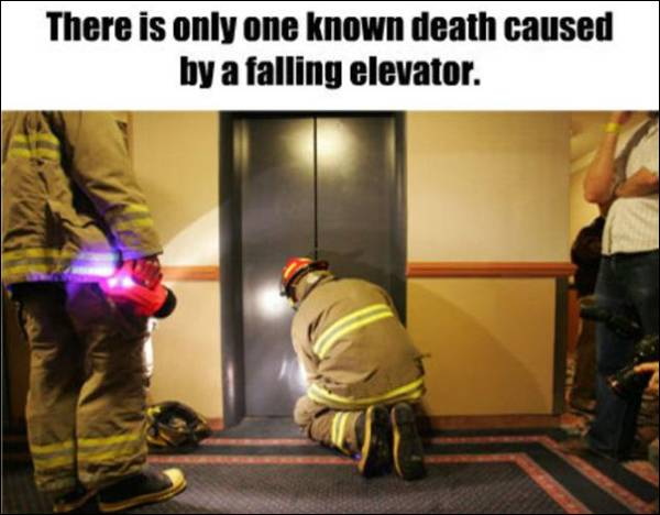 Fact about falling elevator deaths