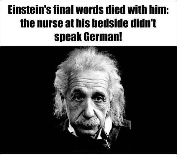 Fact about final words of Einstein