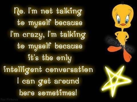 why i don't talk to myself