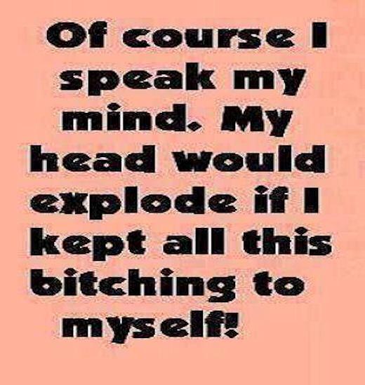 why i speak to my mind