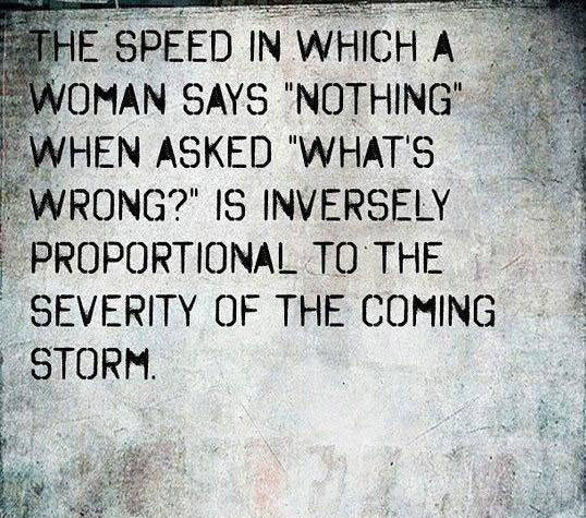 why women say NOTHING