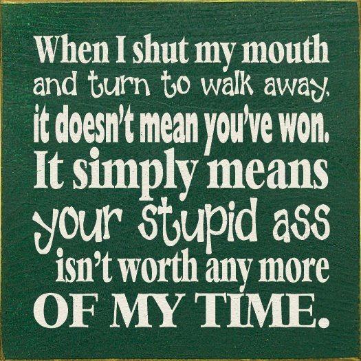 when i shut my mouth