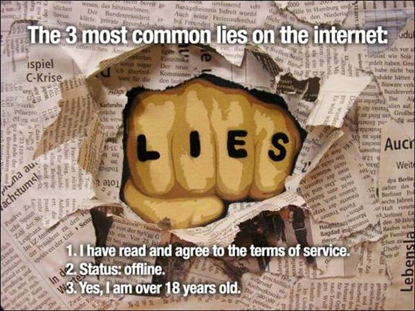 Most Common Lies On The Internet