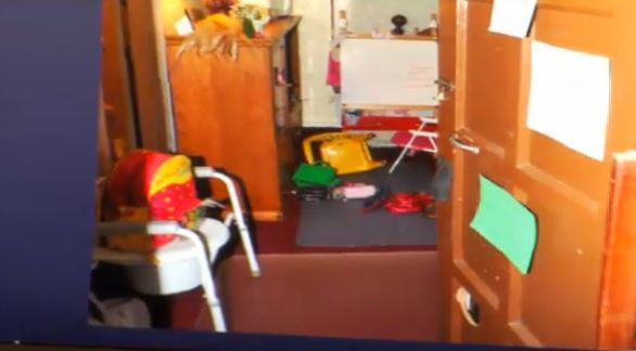 The room where Amanda Berry and her dauther were forced by Ariel Castro to spend the last decade.