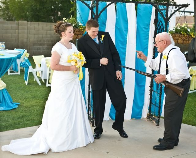 This Grandpa attending wedding