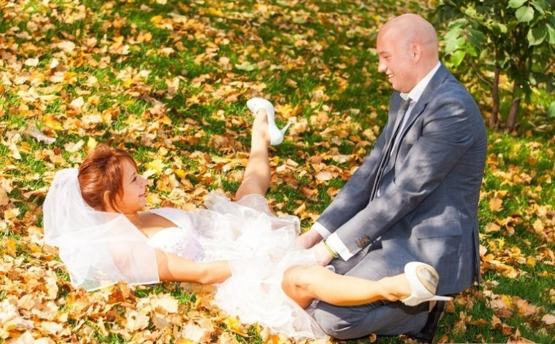 This awesome funny wedding picture from Russia