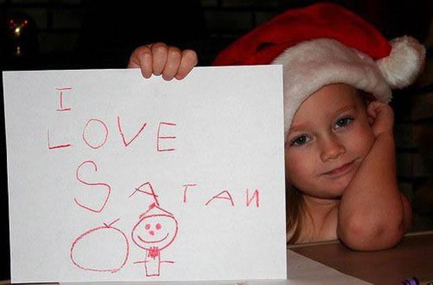 This girl who loves Santa